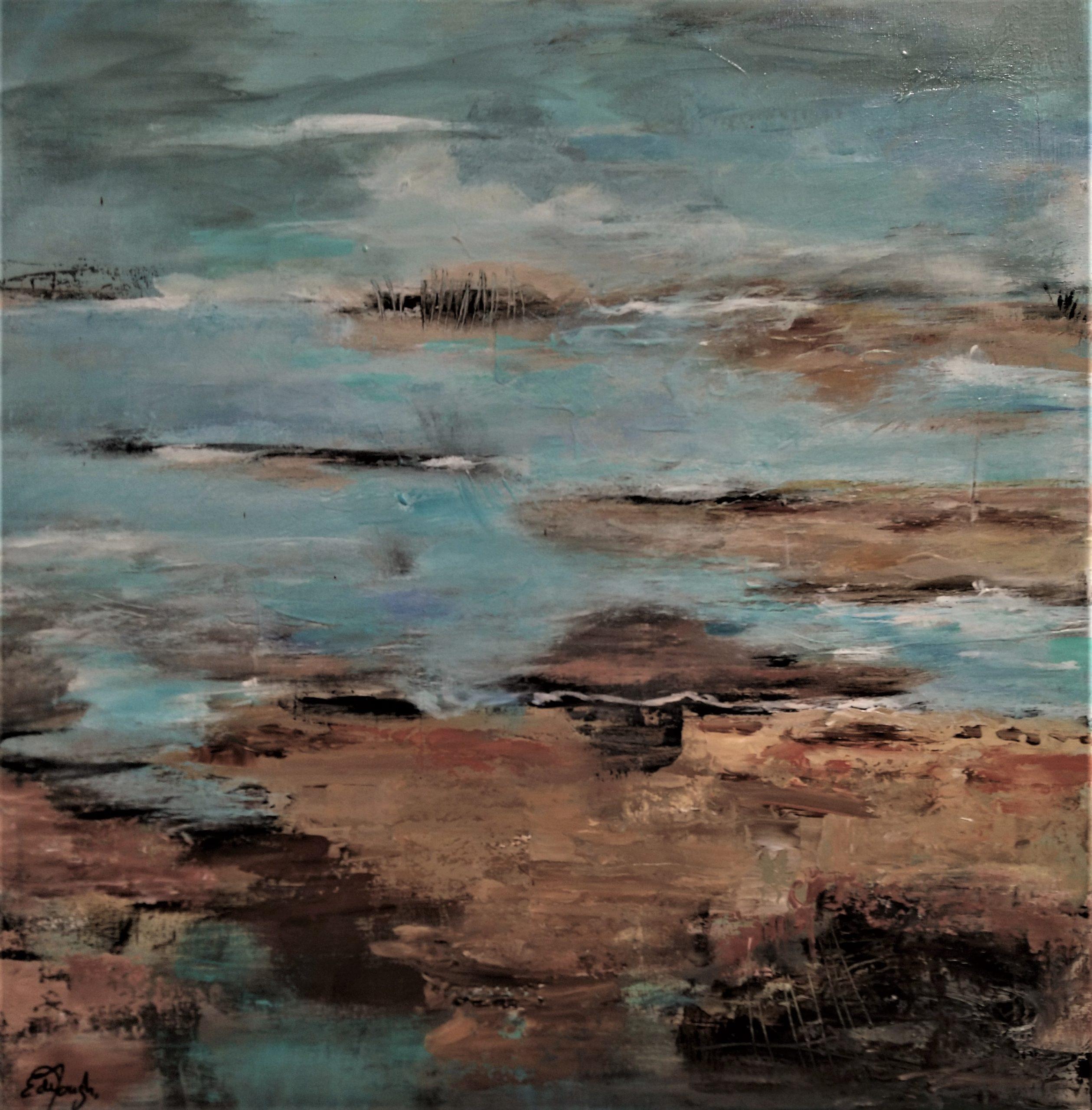 schilderij acrylverf op canvas 60 x 60 cm