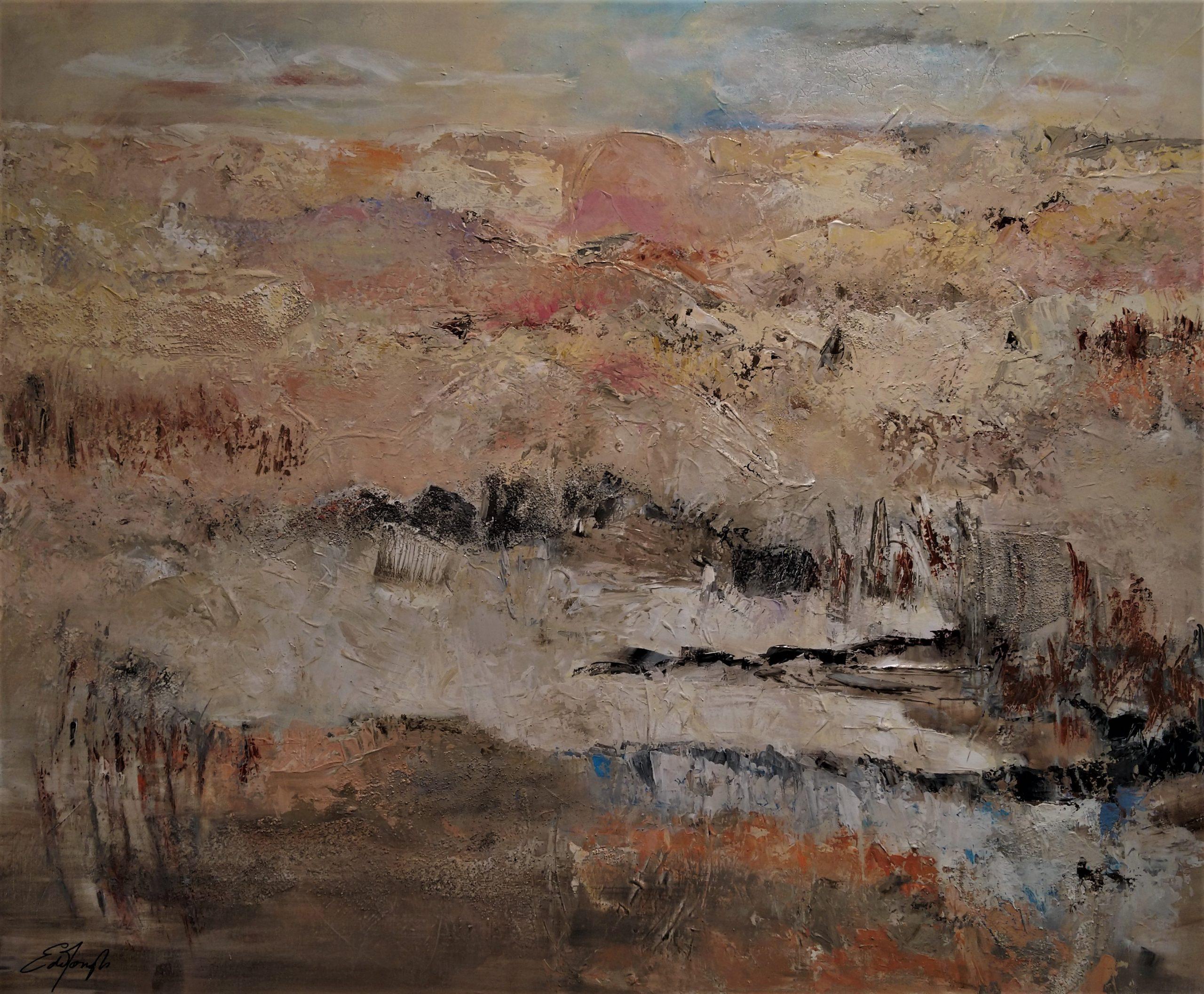 schilderij acrylverf op canvas 100 x 120 cm